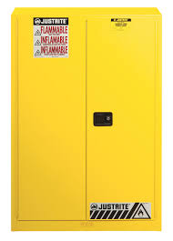 Yellow Metal Storage Cabinet Justrite Metal Flammable Storage Cabinets