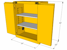 Yellow Storage Cabinet Flammable Storage Cabinet Self Closing Doors 28 Gallons
