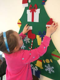 large felt tree with movable decorations early years