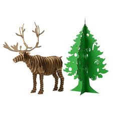online shop christmas decoration tree reindeer 3d puzzle model