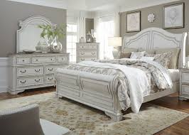 White Sleigh Bed Magnolia Manor Antique White King Sleigh Bed Sleigh Beds Beds