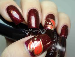 simple leaves fall nail design youtube