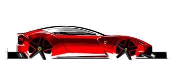 ferrari concept design sketch 5 supercar sketches