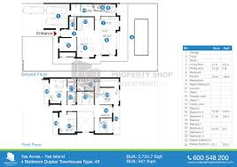 2 Bedroom Duplex Floor Plans by Floor Plan Of Yas Acres Yas Island