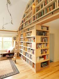 awesome scandinavian bookshelves with brown wooden appealing