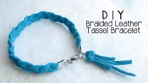 diy braided bracelet with beads images Diy braided leather tassel bracelet jewelry making tutorial jpg