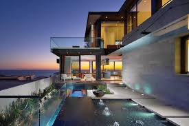 modern beautiful home with reflecting ponds most beautiful houses