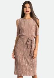 cold shoulder dress pleated cold shoulder dress sans souci stores