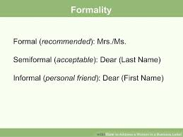 how to address a woman in a business letter 7 steps