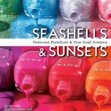 zoya seashells u0026 sunsets summer 2016 collection swatch and learn