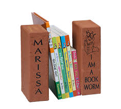 engraved bookends corporate gift ideas home decor fundraising brick