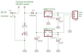multi purpose dual power supply 5 0v and 3 3v regulator board