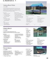 athletics tennis court seating 134 3790 cabana bench 6 feet