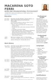 Spanish Resume Samples by Human Resources Resume Samples Visualcv Resume Samples Database