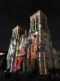 san fernando cathedral light show san fernando cathedral san antonio texas san antonio the saga