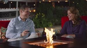 Pleasant Hearth Fire Pit - pleasant hearth ofg419t rio 38 u0027 u0027 square wicker gas fire pit table