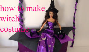 Monster High Doll Halloween Costumes by How To Make Witch Costume Halloween Dolls Barbie Ever After Y