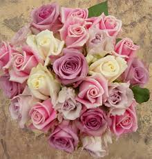 wedding flowers roses blush pink and light purple with roses wedding flower