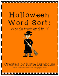 savvy in second halloween literacy centers