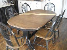 refinish oak kitchen table kitchen table and chairs makeover 320 sycamore chair makeover