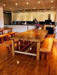 custom wood dining tables beautiful reclaimed wood dining tables and benches bay area custom