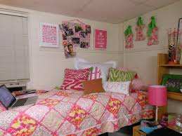 the pink and green prep decorating your dorm room the bed