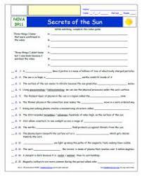 free differentiated worksheet for nova secrets of the sun