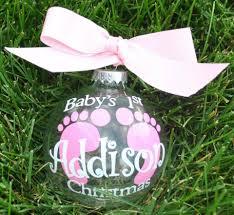 baby u0027s 1st christmas footprint ornament boy or