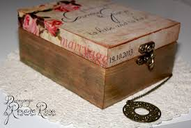 wedding box vintage wedding box decoupage