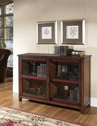 Glass Door Bookshelf Furniture Sliding Glass Door Bookcase With Classic Wood Finished