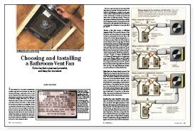 choosing and installing a bathroom vent fan fine homebuilding