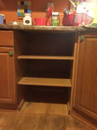 Kitchen Cabinet Replacement Shelves Removal Of Dishwasher And Replaced With Shelving Home