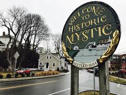 mystic s wooden welcome signs this is mystic ct