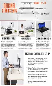 Ergonomic Standing Desks Amazon Com Stand Steady Original Standing Desk Large Surface