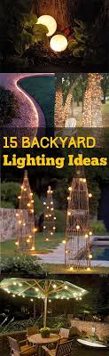 best 25 backyard lighting ideas on patio lighting