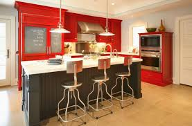 kitchen room 2017 furniture chalk red painted kitchen cabi with