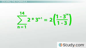 how to calculate a geometric series video u0026 lesson transcript