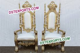 King And Queen Throne Chairs Wedding Bride Groom Chairs