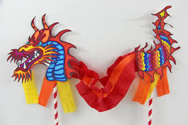 chinese dragon puppet happy