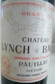 wine from château lynch bages 1970 château lynch bages bordeaux médoc pauillac