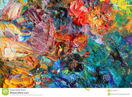 Paint Pallet by Background Image Of Bright Oil Paint Palette Stock Photos Image