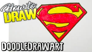 drawing how to draw the superman logo step by step easy