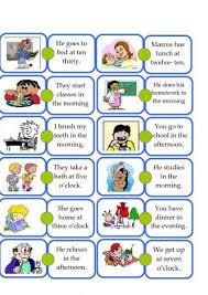 Write ten Sentences daily routine in English