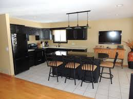 kitchen surprising black modern kitchen cabinets with black sofa