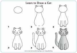 imágenes de gatos fáciles para dibujar learn to draw a cat step by step illustrated doodles pinterest
