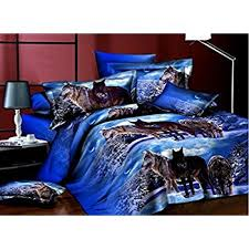 Wolf Bedding Set Ammybeddings 3d Blue Wolf Bedding Sets 4