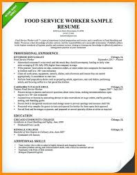 sample resume for food service worker resume restaurant server
