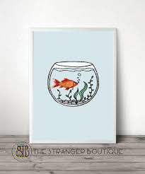 fish photography minimal home decor fishbowl drawing doodle