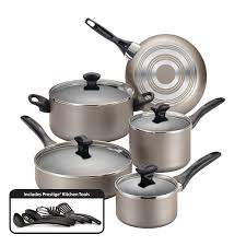 farberware dishwasher safe nonstick 15 piece cookware set champagne