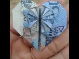 cara membuat origami bunga dari uang kertas tutorial cara melipat uang kertas menjadi bunga hati how to fold